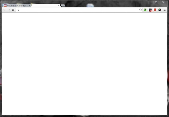 chrome blank new tab