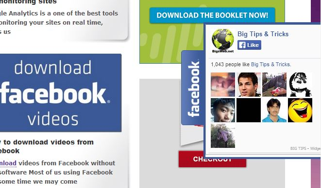 facebook floating widget