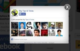 Facebook Popup (Like Box Widget) for WP Sites