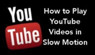 How to watch videos slow motion in YouTube